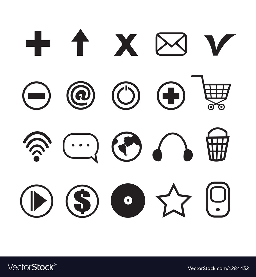 Stok vektor little different icons vector | Price: 1 Credit (USD $1)
