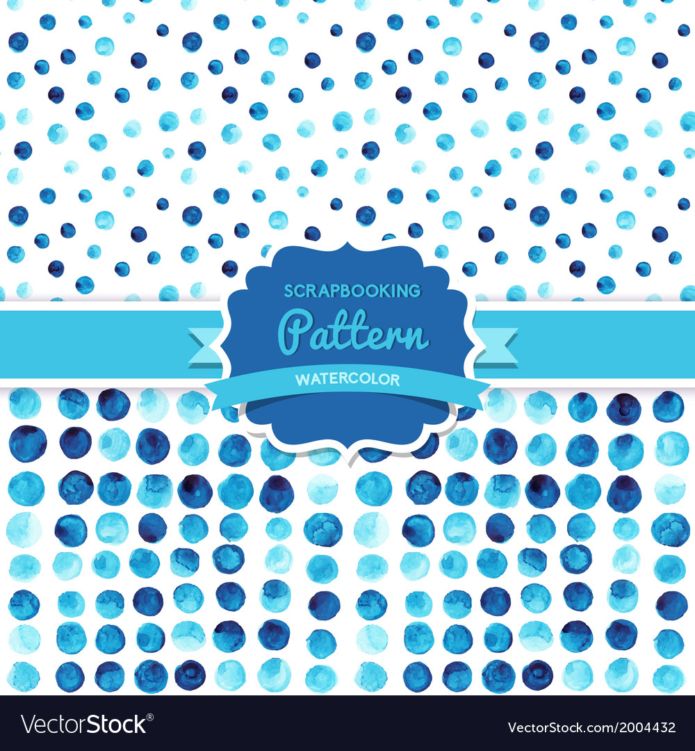 Watercolor circles seamless pattern tiled retro vector | Price: 1 Credit (USD $1)