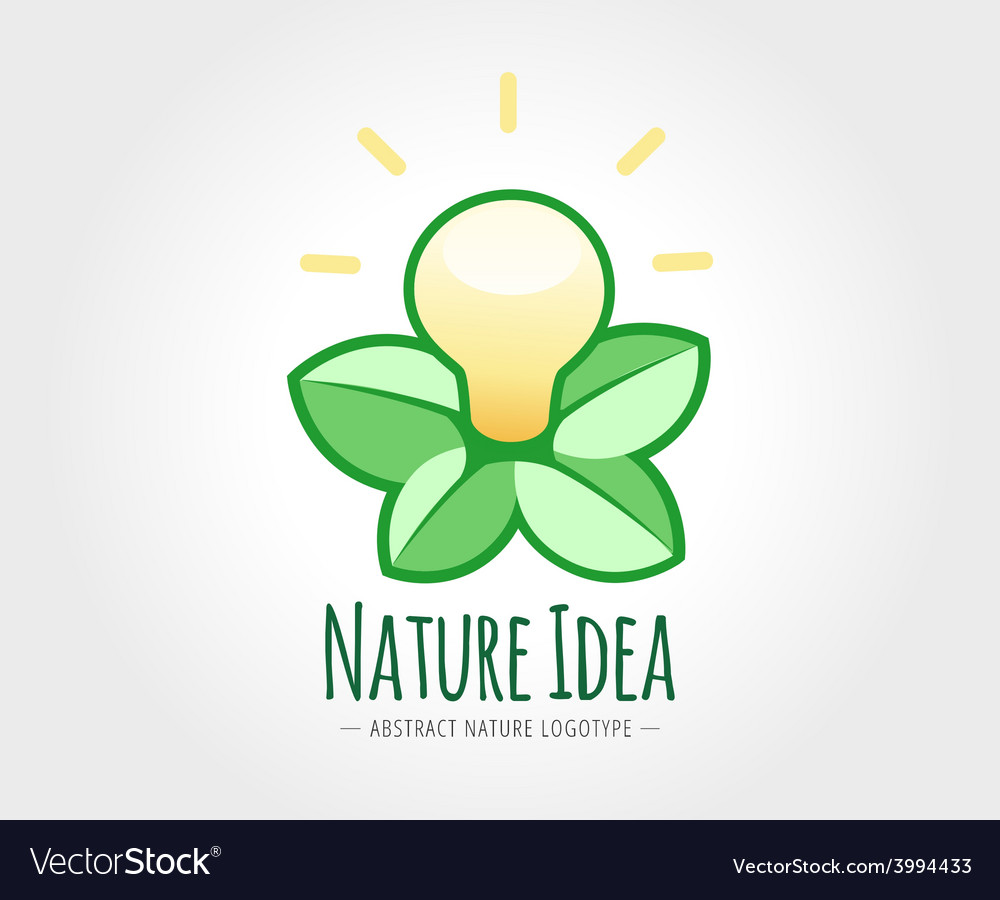 Abstract nature logo template for branding vector | Price: 1 Credit (USD $1)