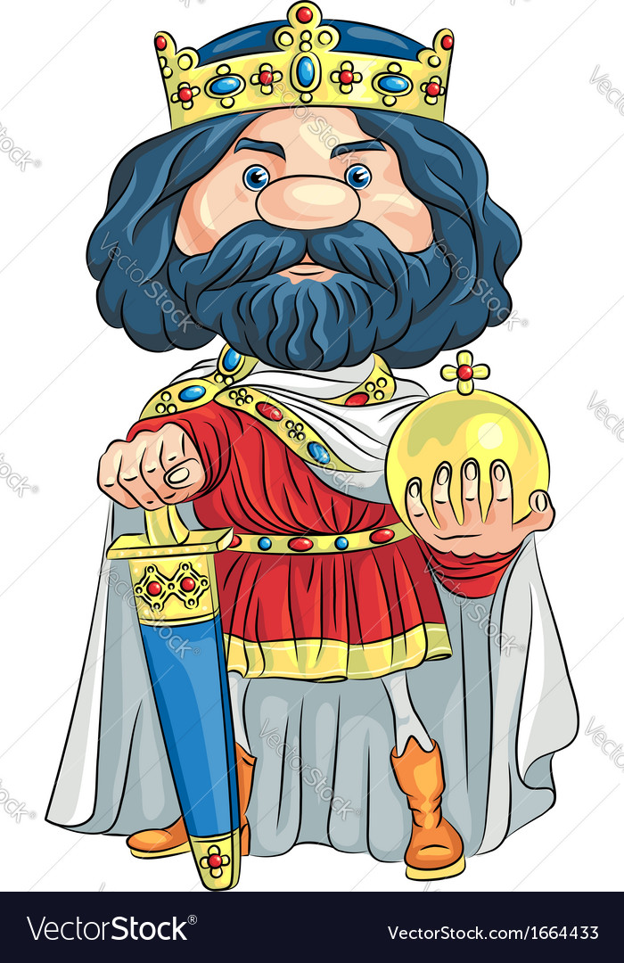 Cartoon king charles the first vector   Price: 1 Credit (USD $1)