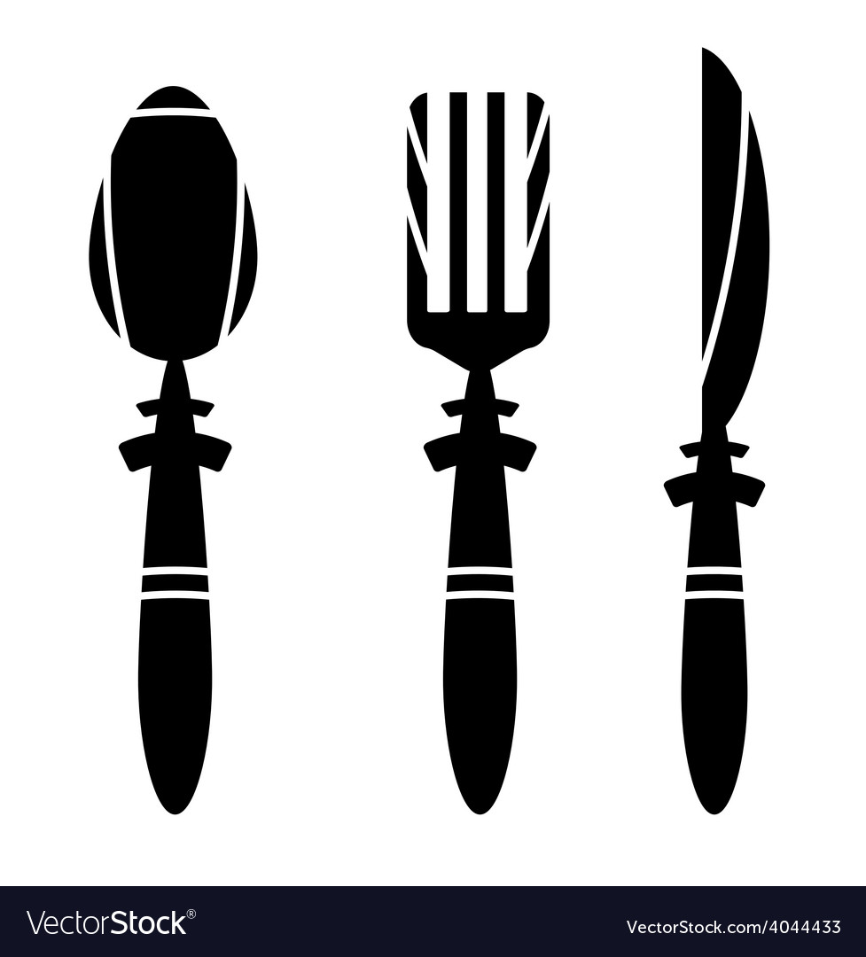 Cutlery - spoon knife and fork - ikons vector | Price: 1 Credit (USD $1)