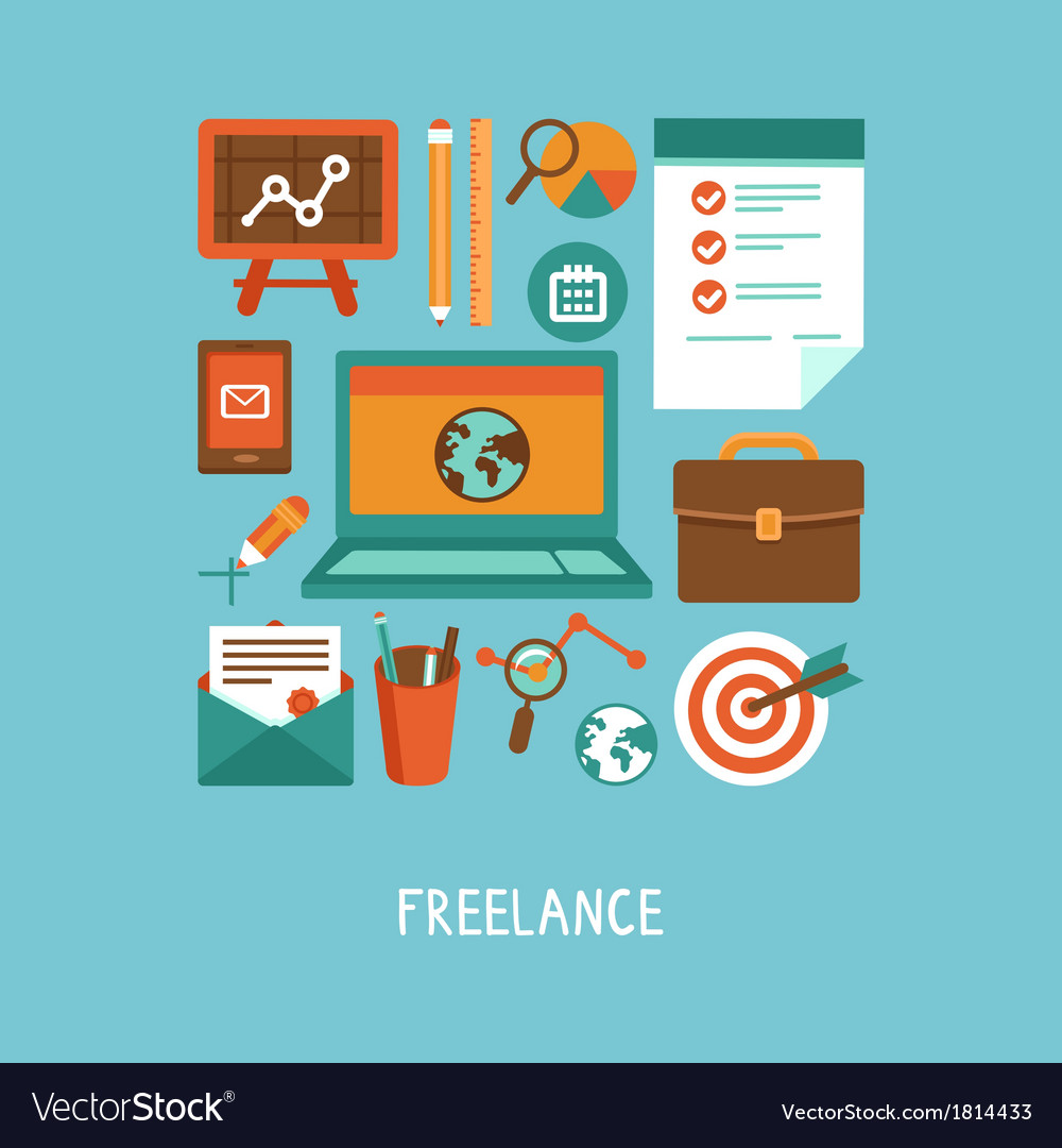 Freelance work concept vector | Price: 1 Credit (USD $1)