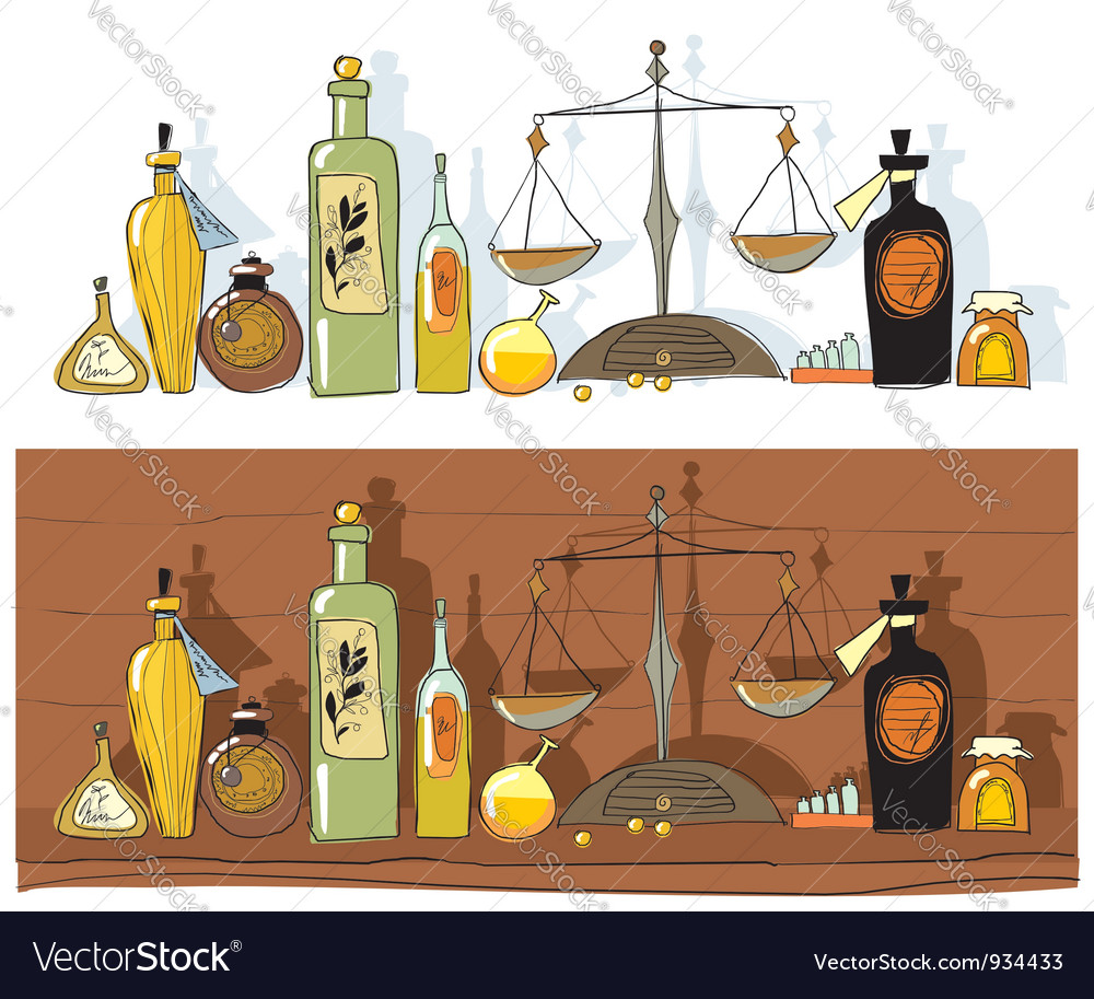 Historial medicines and chemists scales vector | Price: 3 Credit (USD $3)
