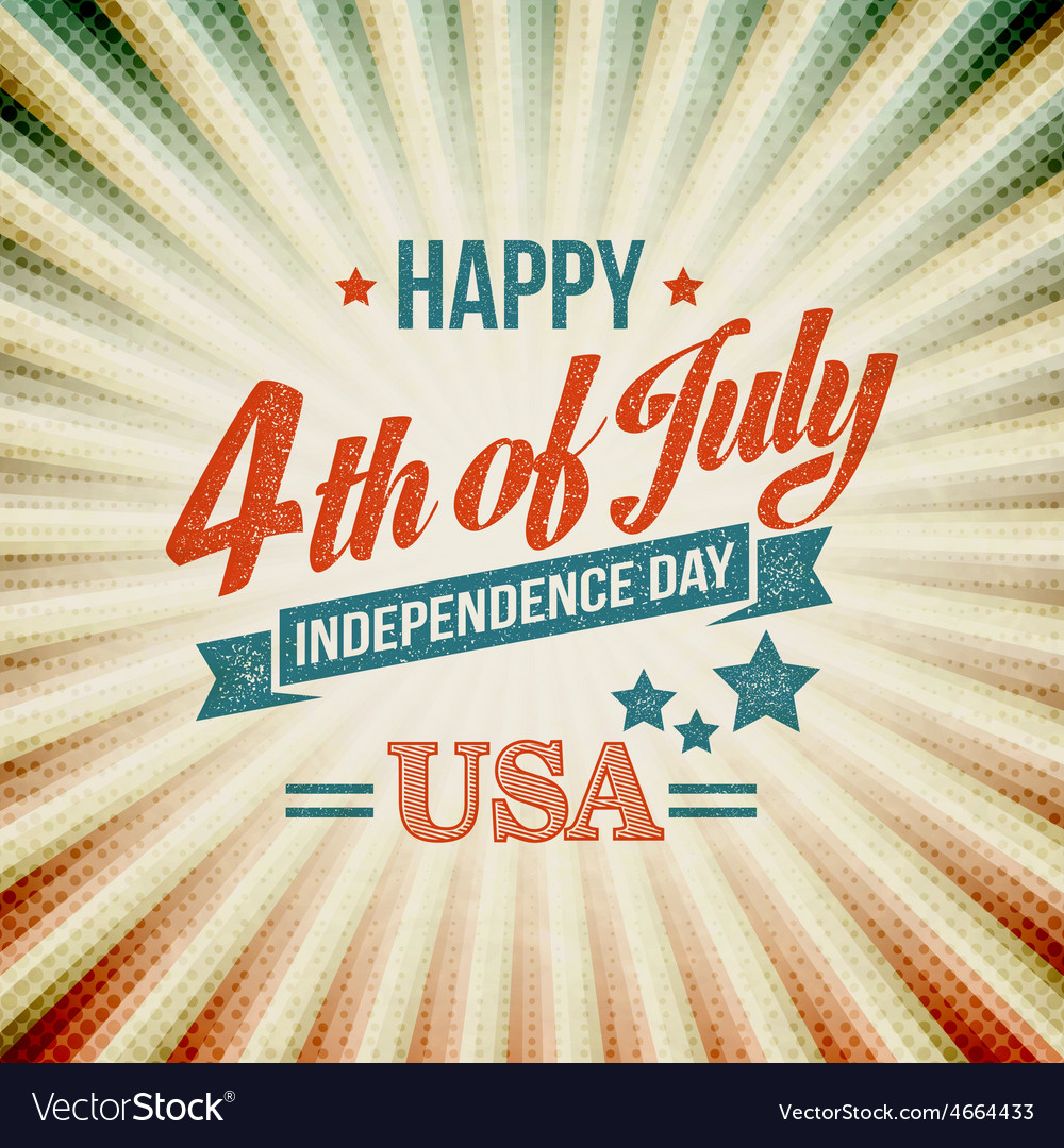 Independence day typography card vector | Price: 1 Credit (USD $1)