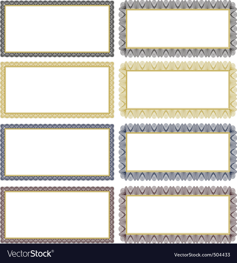ornate decorative frame set vector | Price: 1 Credit (USD $1)