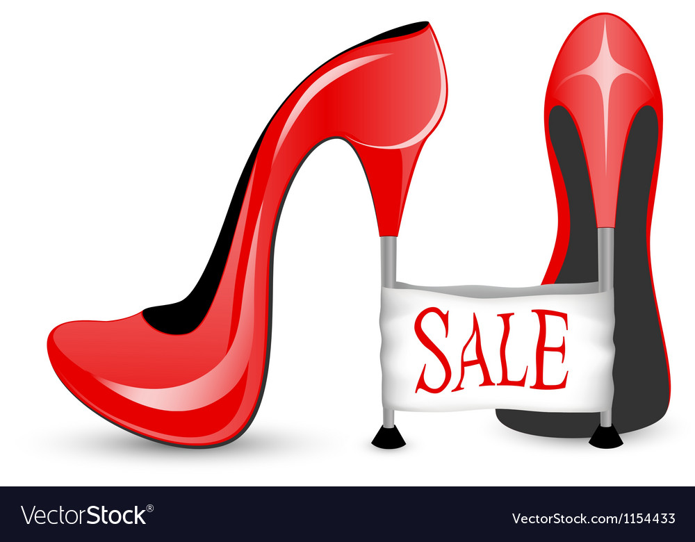 Red shoe with high heels vector | Price: 1 Credit (USD $1)