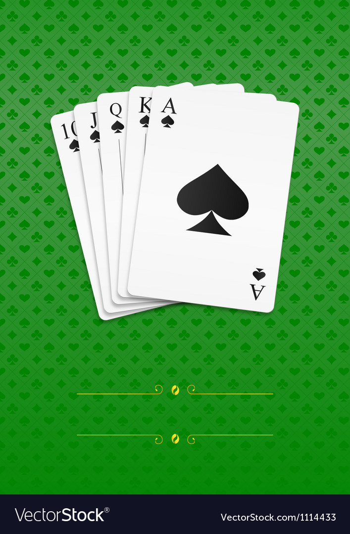 Royal straight flush vector | Price: 1 Credit (USD $1)