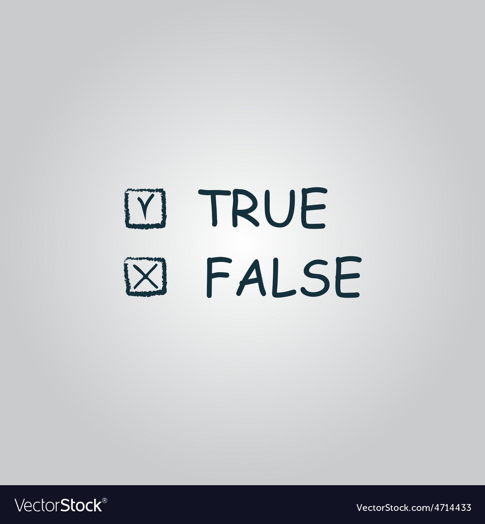 True and false icon vector | Price: 1 Credit (USD $1)