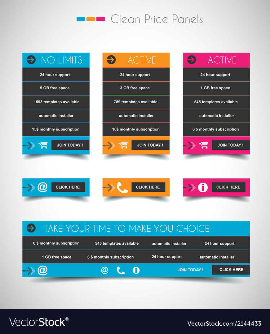 Web price shop panel with space for text and buy vector | Price: 1 Credit (USD $1)