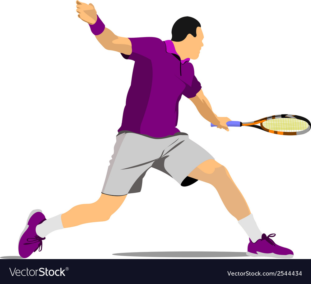 Al 1009 tennis 03 vector | Price: 1 Credit (USD $1)