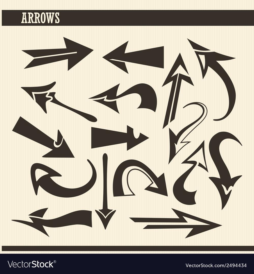 Arrow set vector | Price: 1 Credit (USD $1)