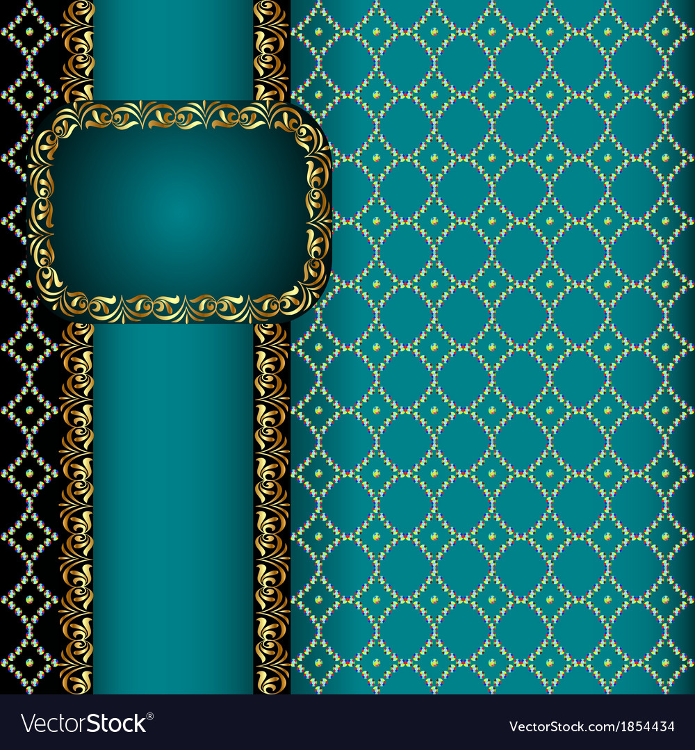 Background with a band with gold vector | Price: 1 Credit (USD $1)