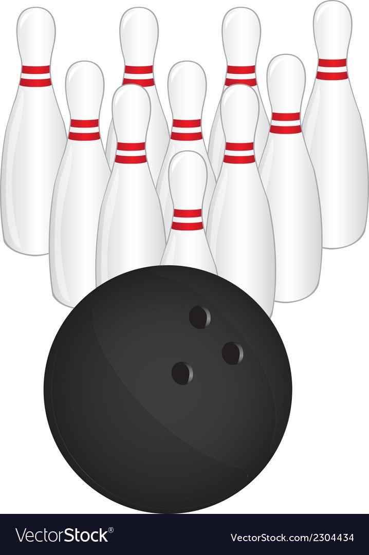 Bowling pins vector | Price: 1 Credit (USD $1)