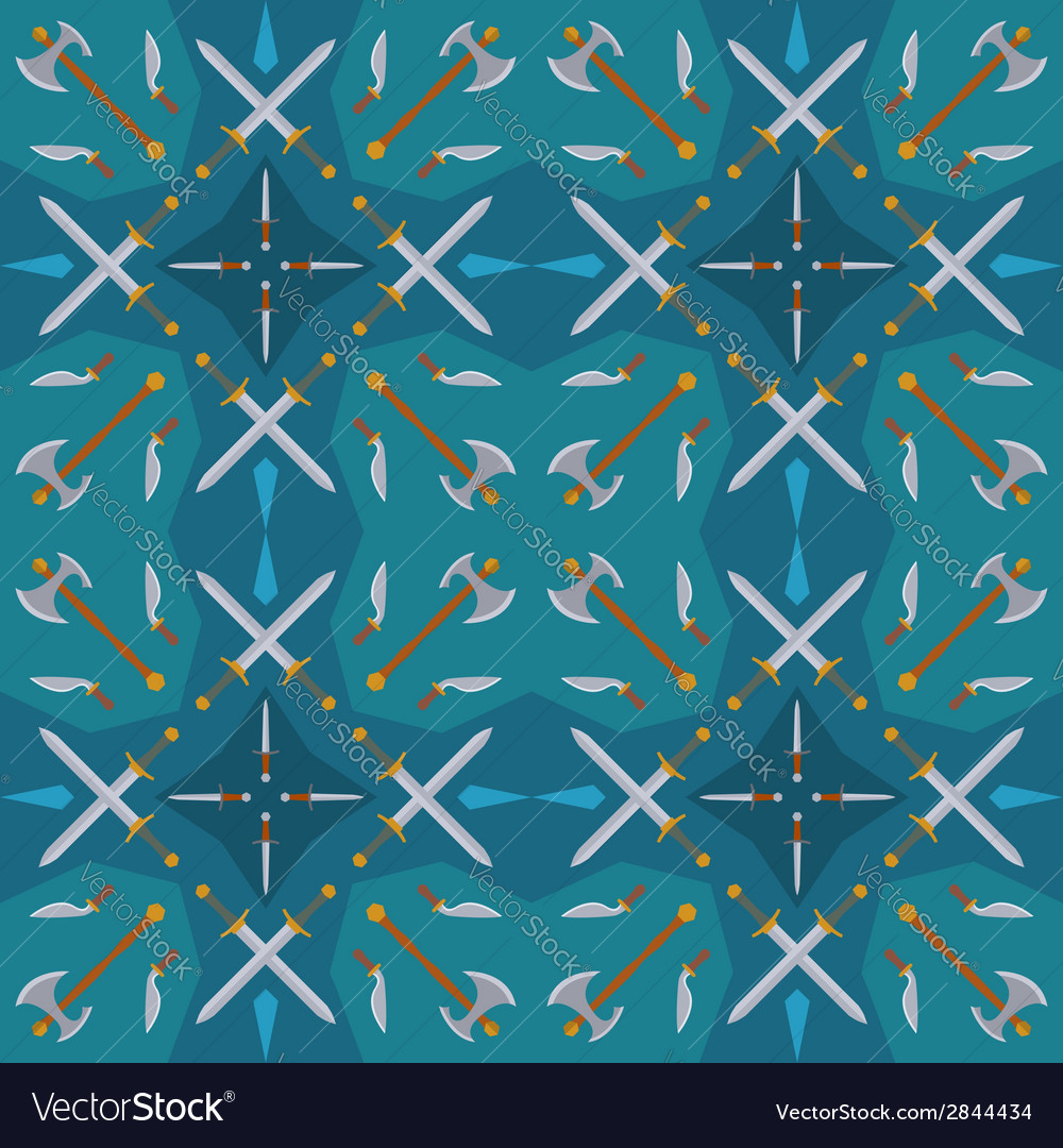 Dark medieval weapons seamless pattern vector | Price: 1 Credit (USD $1)