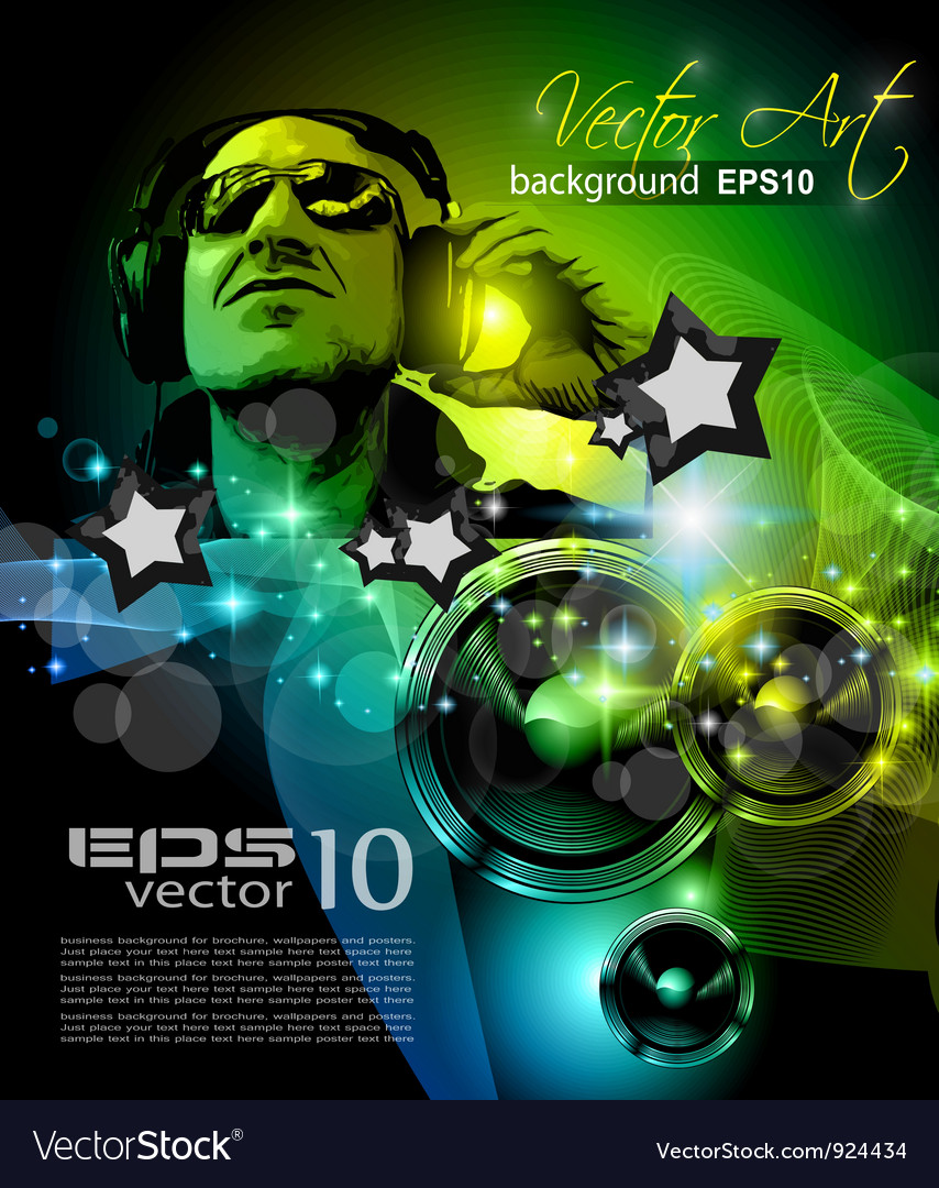 Disco poster vector   Price: 3 Credit (USD $3)