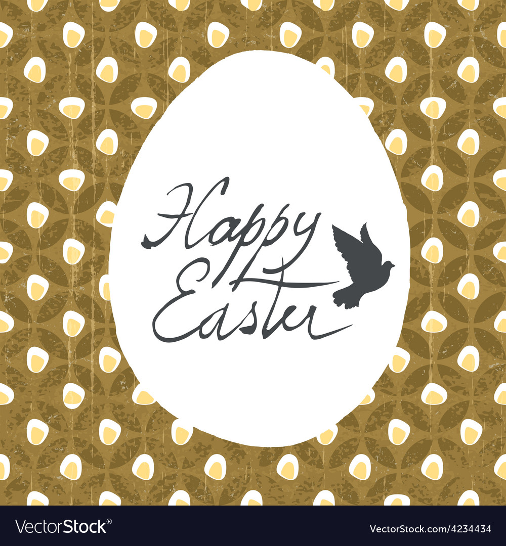 Easter card design diamond pattern vector | Price: 1 Credit (USD $1)