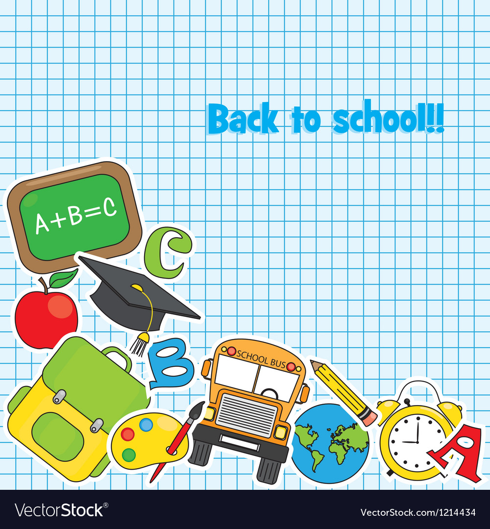 Education and school icon set vector | Price: 1 Credit (USD $1)