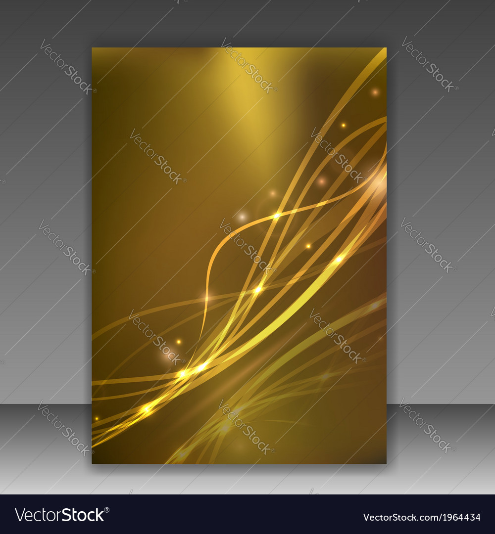 Glittering folder template - sparkling vector | Price: 1 Credit (USD $1)