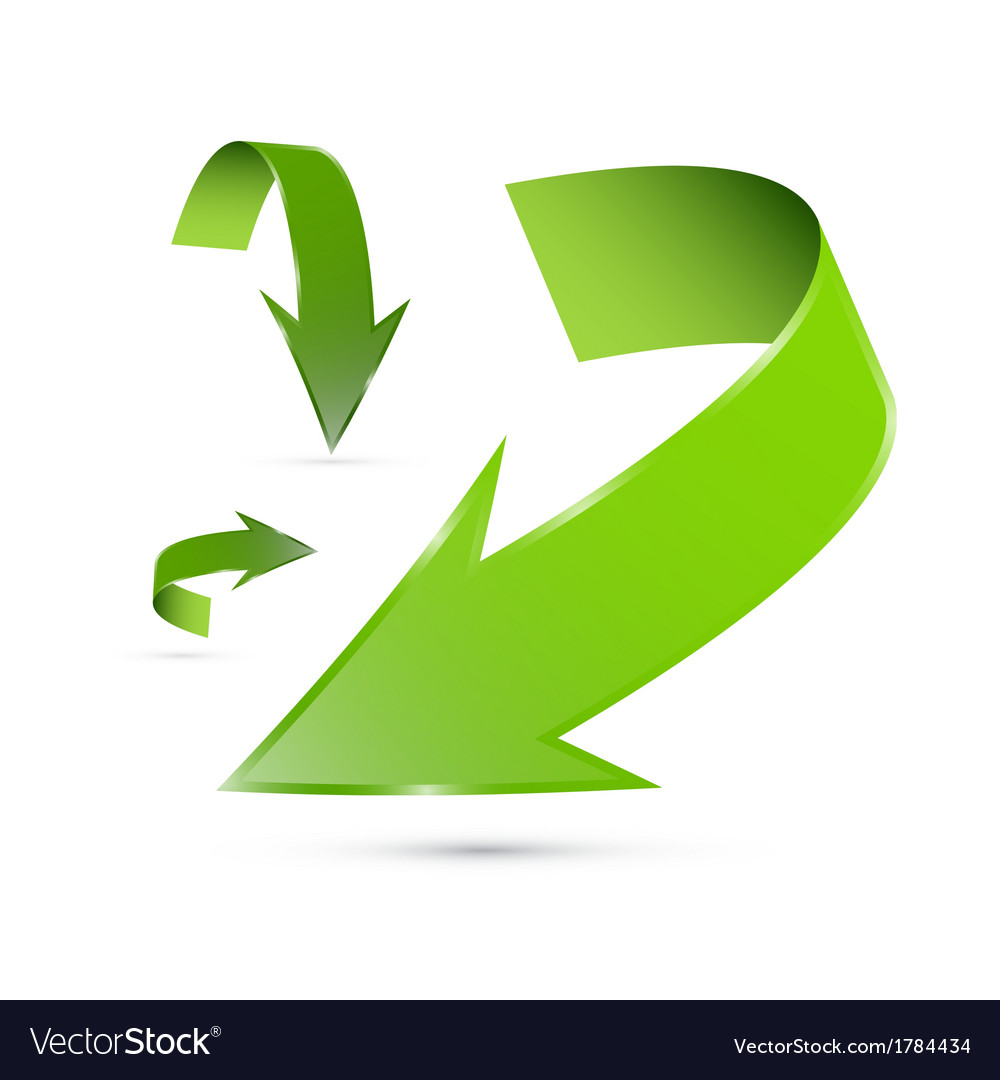 Green abstract arrows set vector | Price: 1 Credit (USD $1)