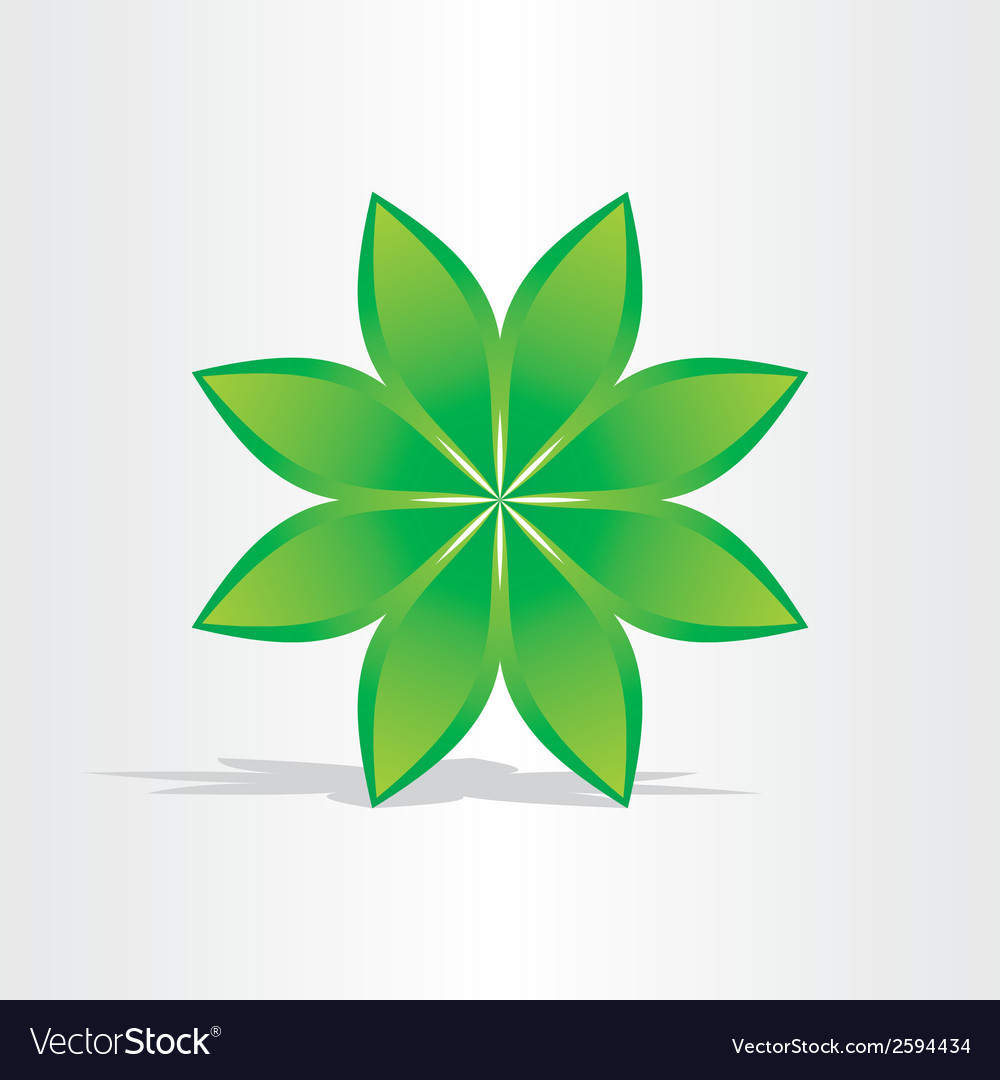 Green flower abstract design vector   Price: 1 Credit (USD $1)