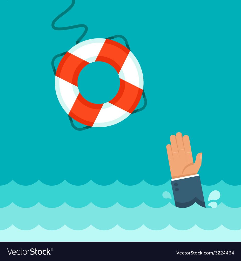 Helping buoy vector | Price: 1 Credit (USD $1)