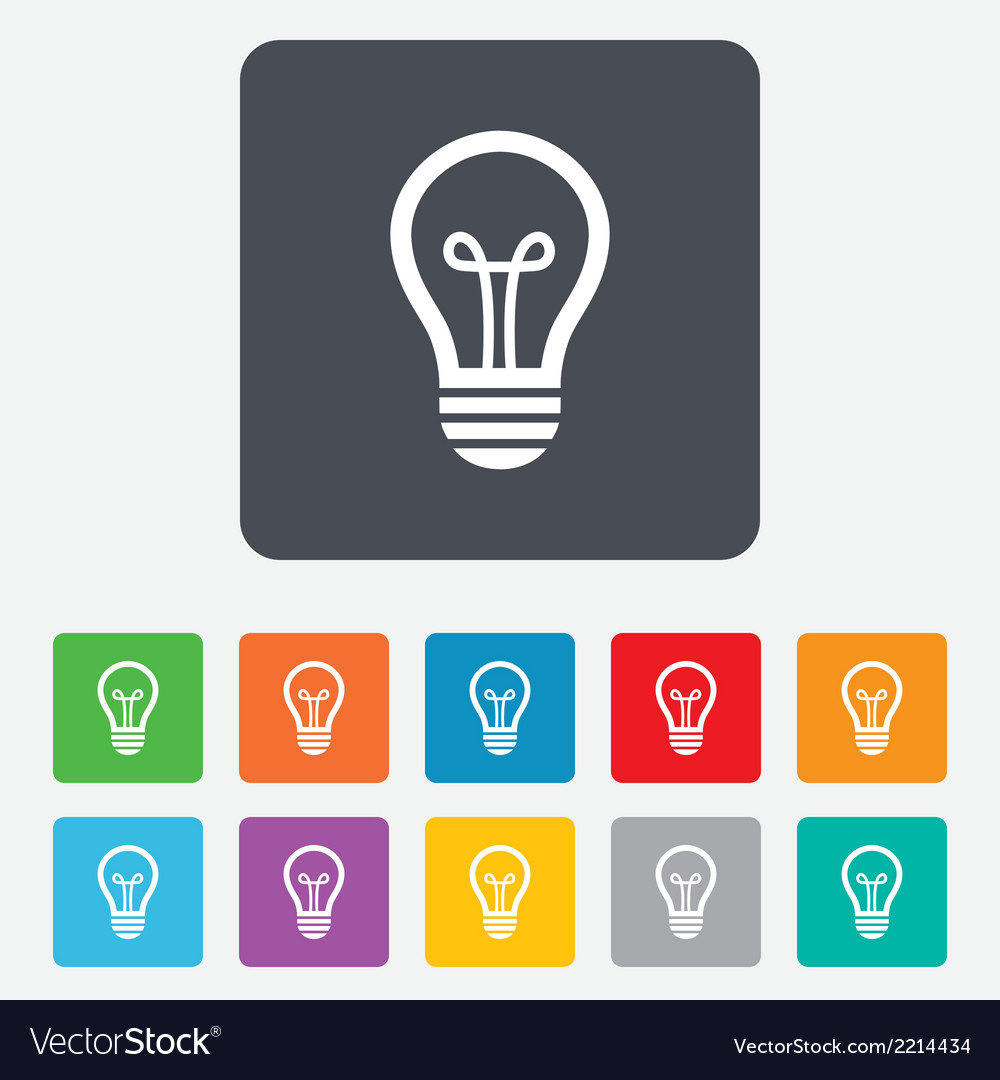 Light lamp sign icon idea symbol vector   Price: 1 Credit (USD $1)