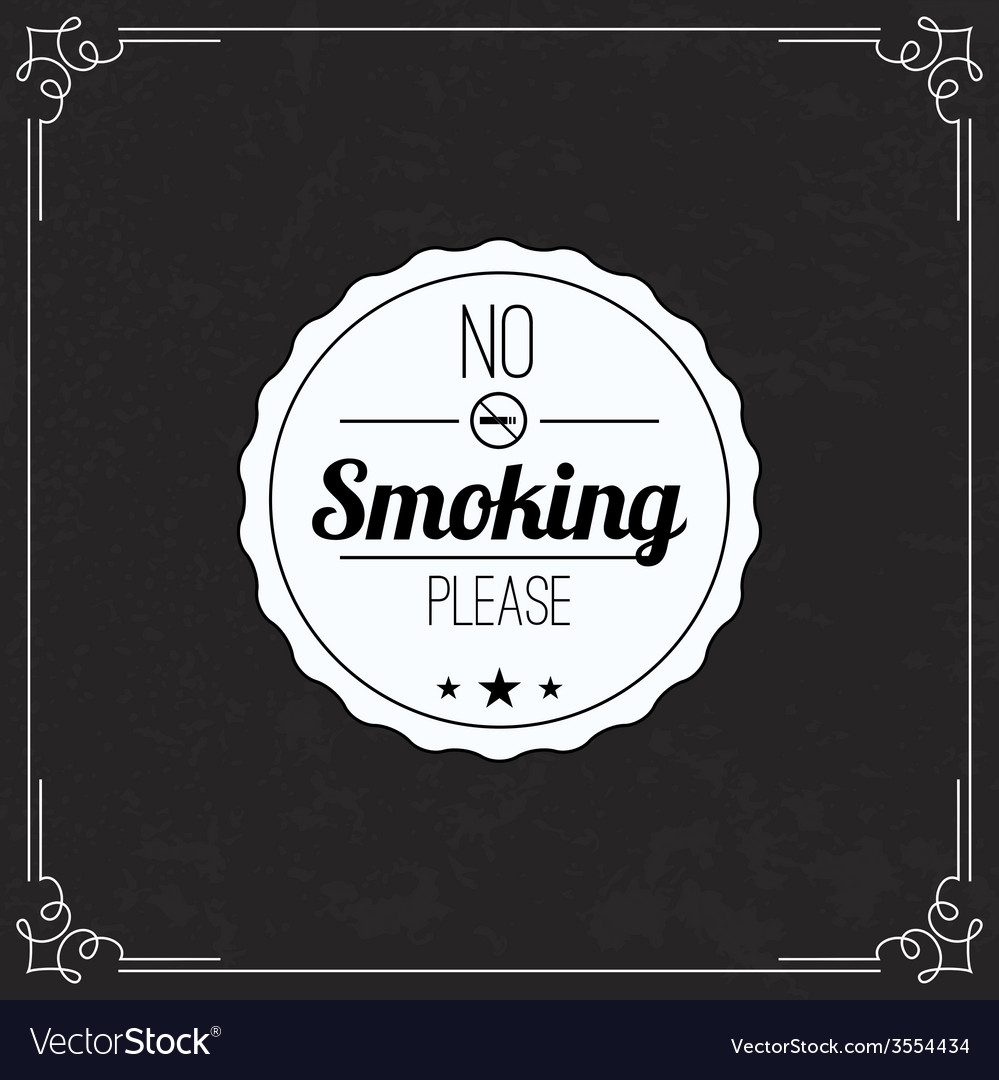 Please no smoking label vector | Price: 1 Credit (USD $1)