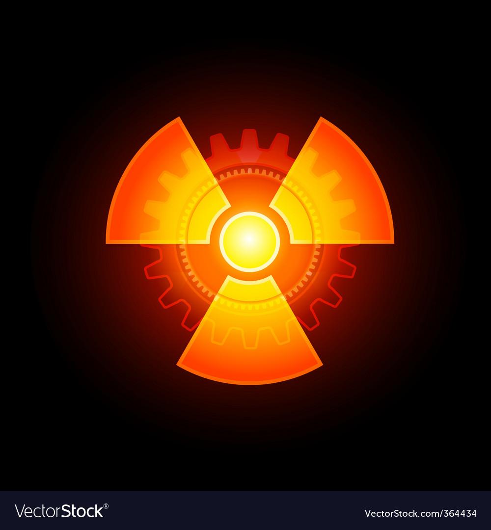 Radioactivity sign vector | Price: 1 Credit (USD $1)