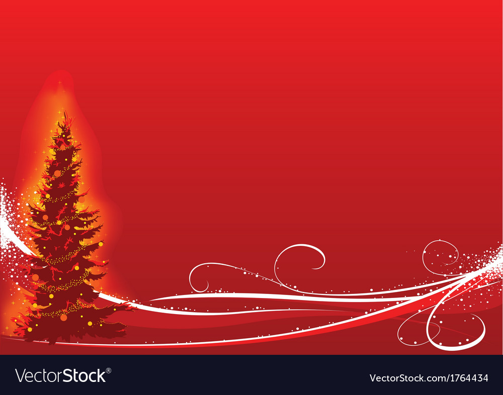Red christmas and white floral vector | Price: 1 Credit (USD $1)