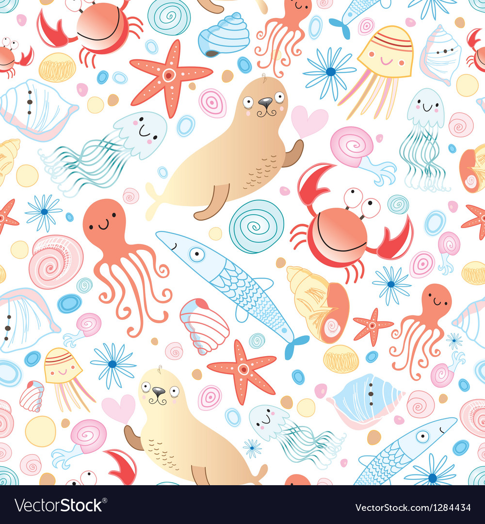 Texture of sea animals vector | Price: 1 Credit (USD $1)