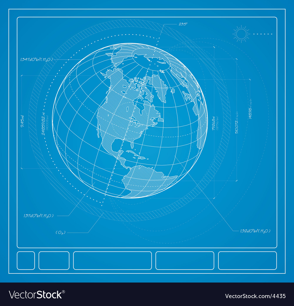 Blueprint earth vector | Price: 1 Credit (USD $1)