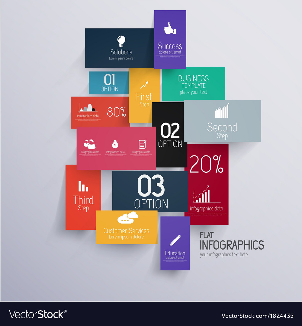 Flat infograp vector | Price: 1 Credit (USD $1)