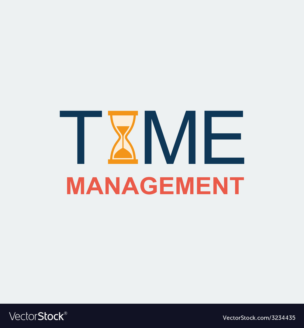 Flat time management background vector | Price: 1 Credit (USD $1)