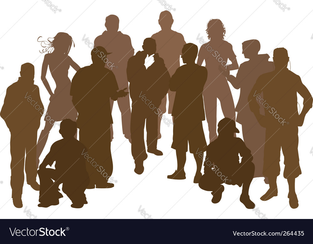 Group silhouette vector | Price: 1 Credit (USD $1)