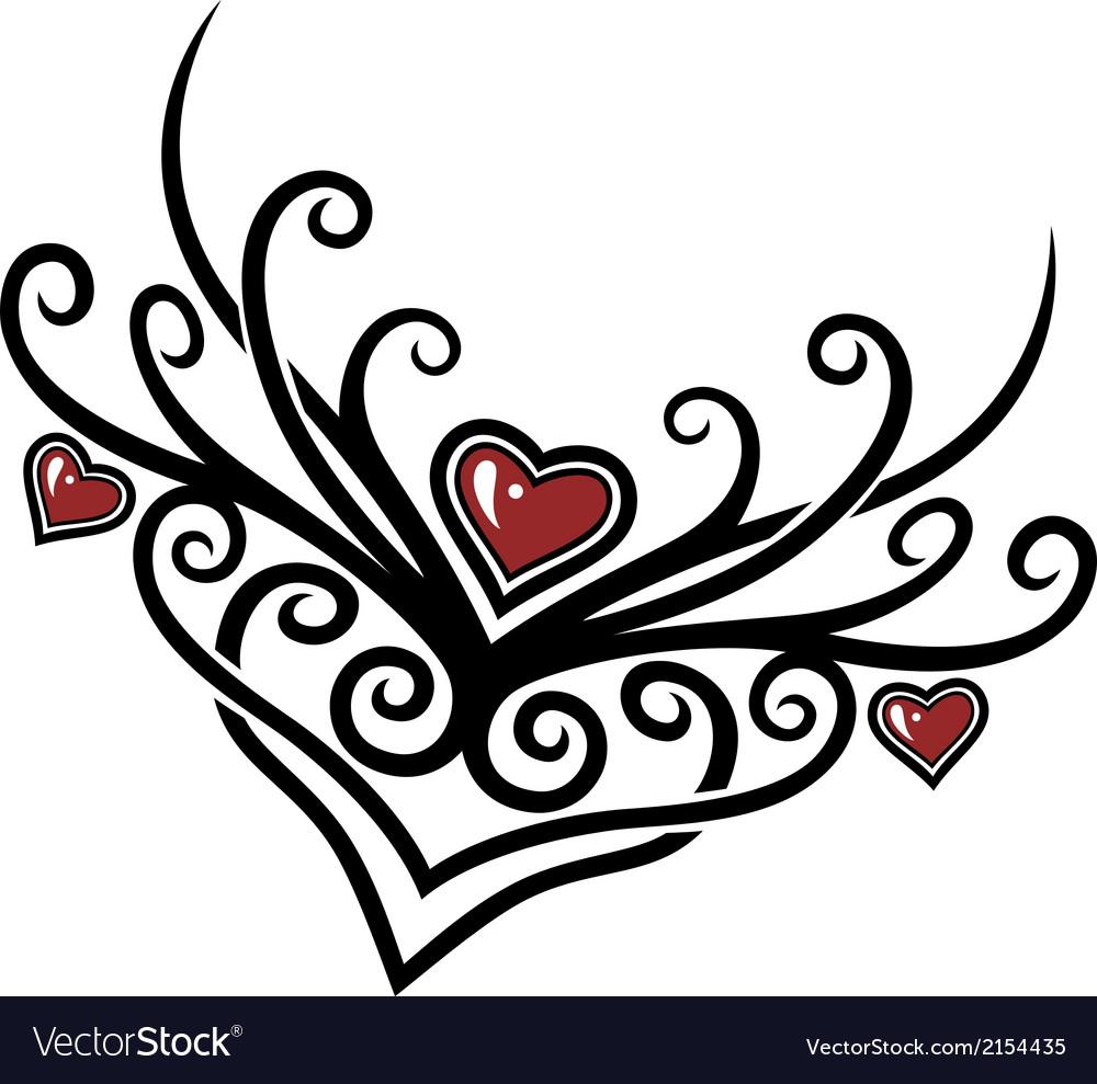 Hearts tribal vector