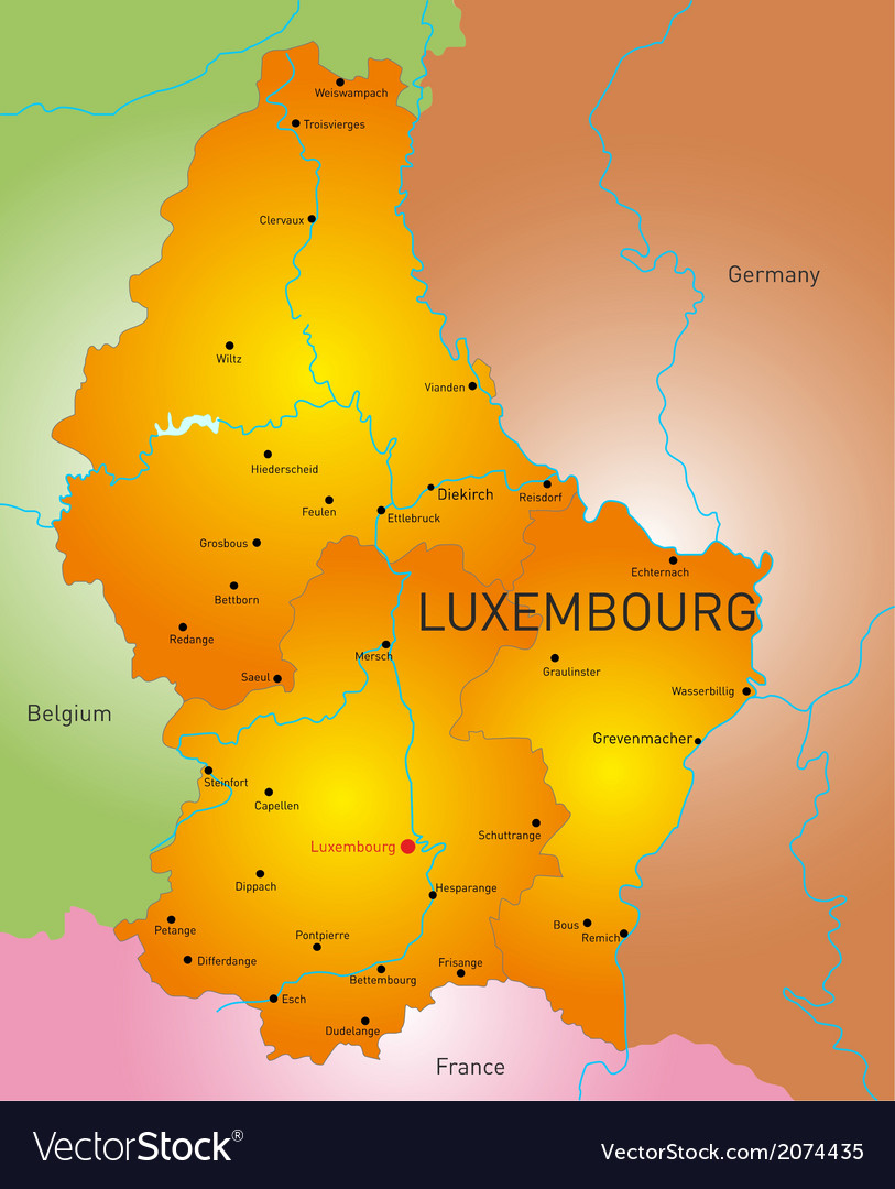 Luxembourg country vector | Price: 1 Credit (USD $1)