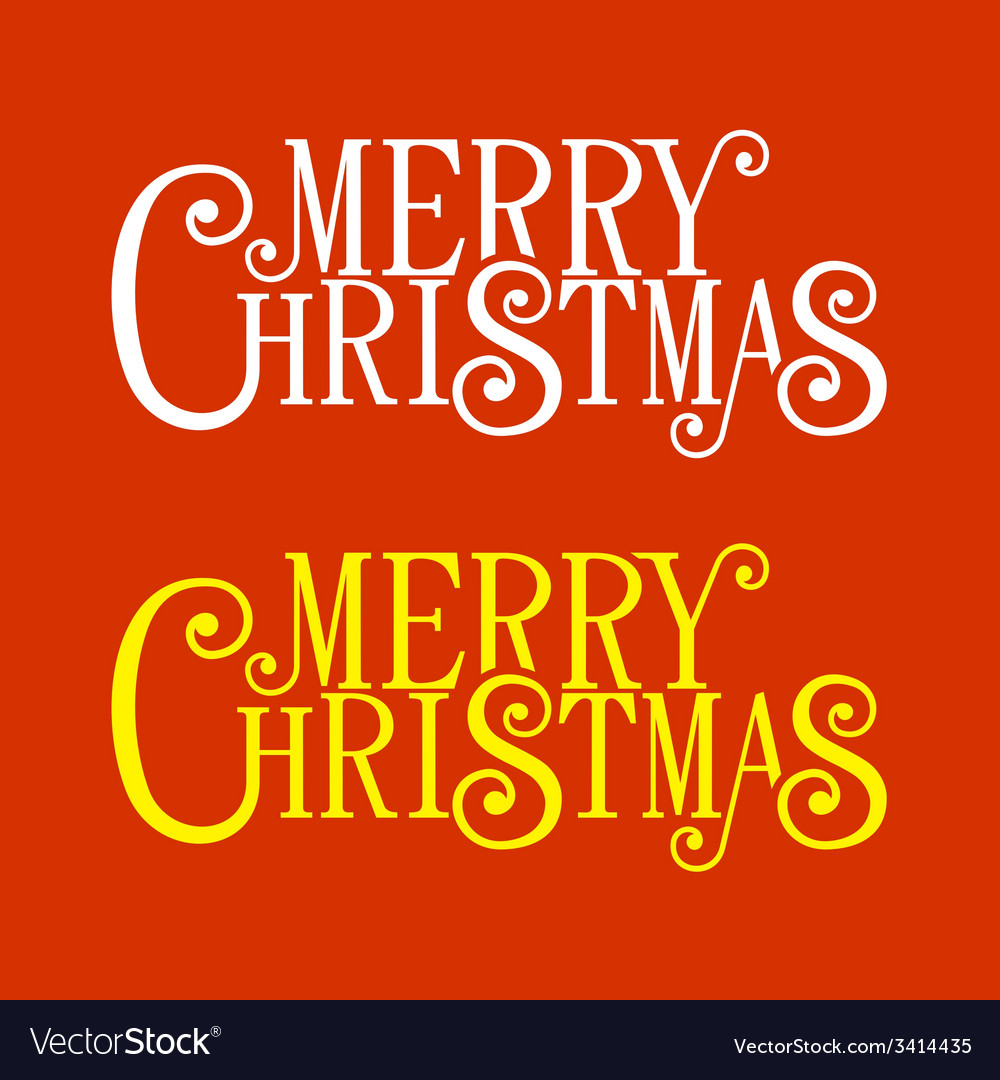 Merry christmas lettering for greeting card vector | Price: 1 Credit (USD $1)
