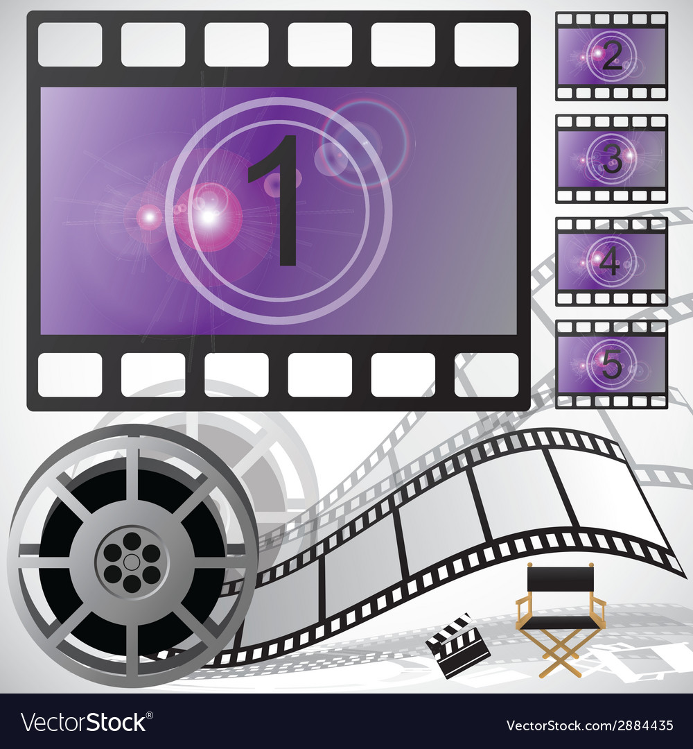 Movie countdown and reel vector | Price: 1 Credit (USD $1)