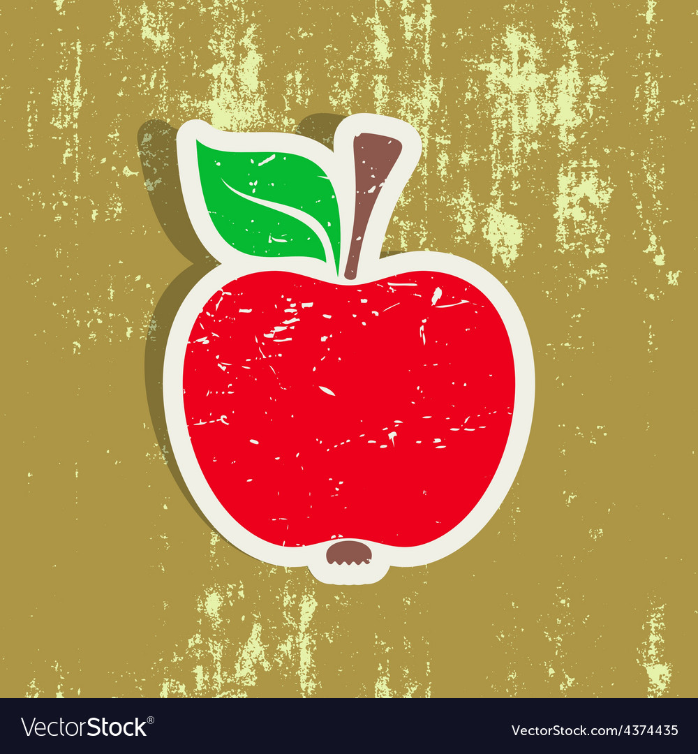 Red apple label vector | Price: 1 Credit (USD $1)