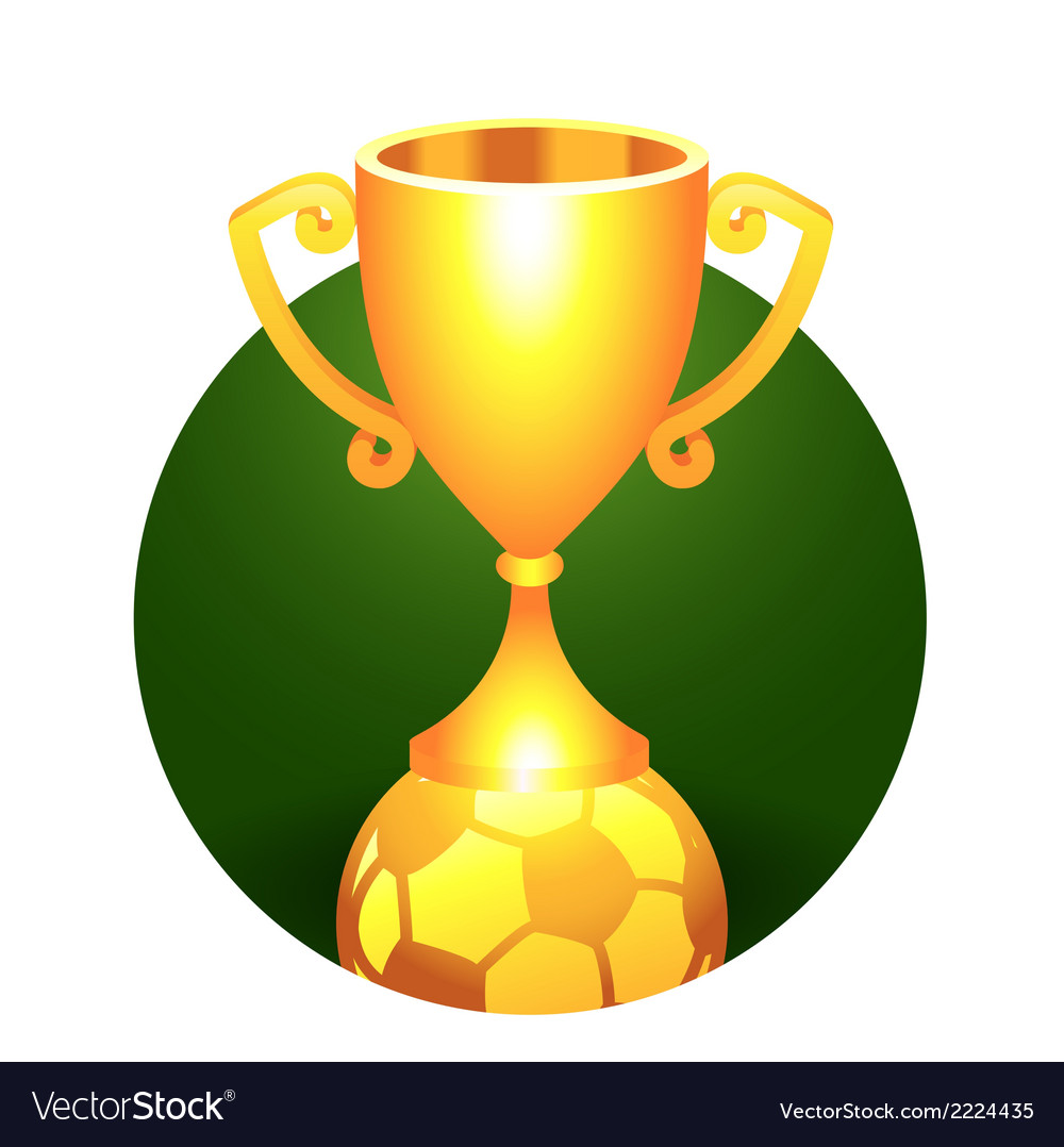 Soccer football ball trophy gold cup vector | Price: 1 Credit (USD $1)