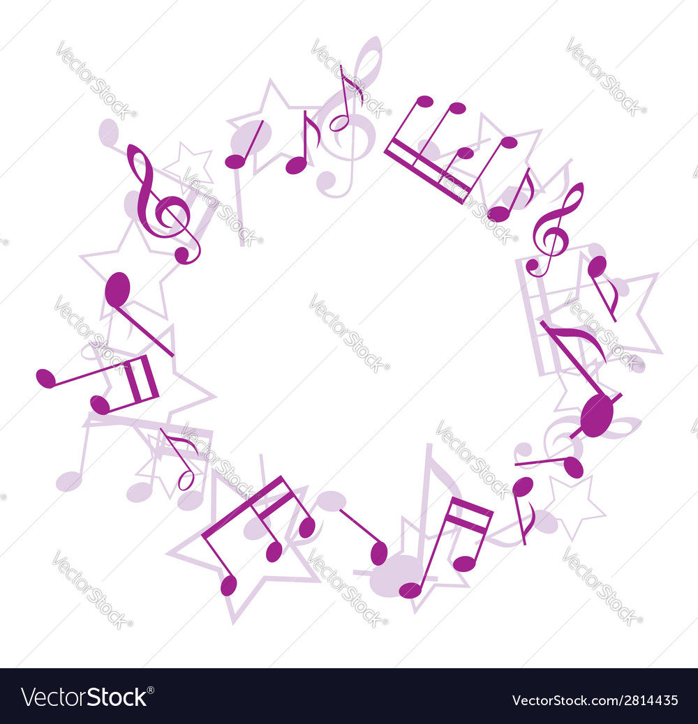 Violet music frame vector | Price: 1 Credit (USD $1)