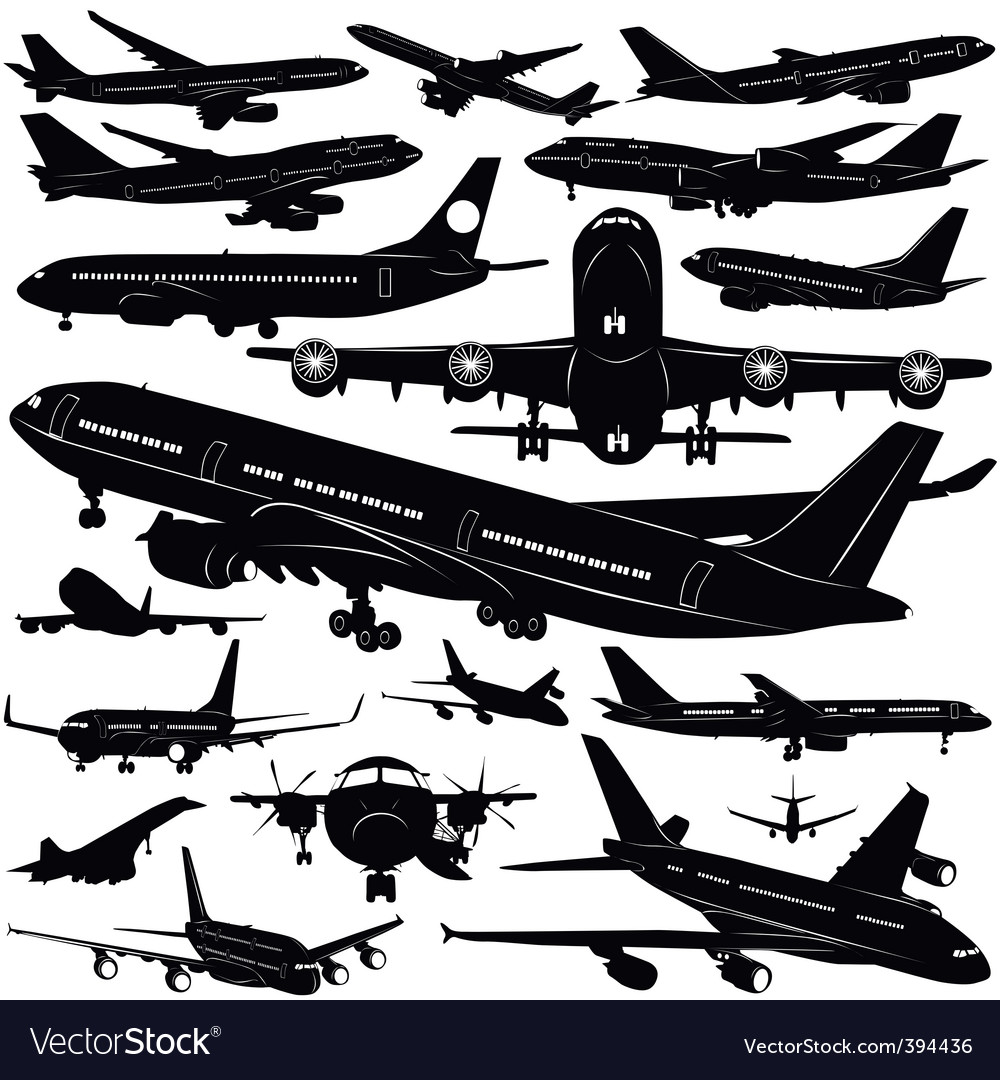 Airplane collection vector | Price: 1 Credit (USD $1)