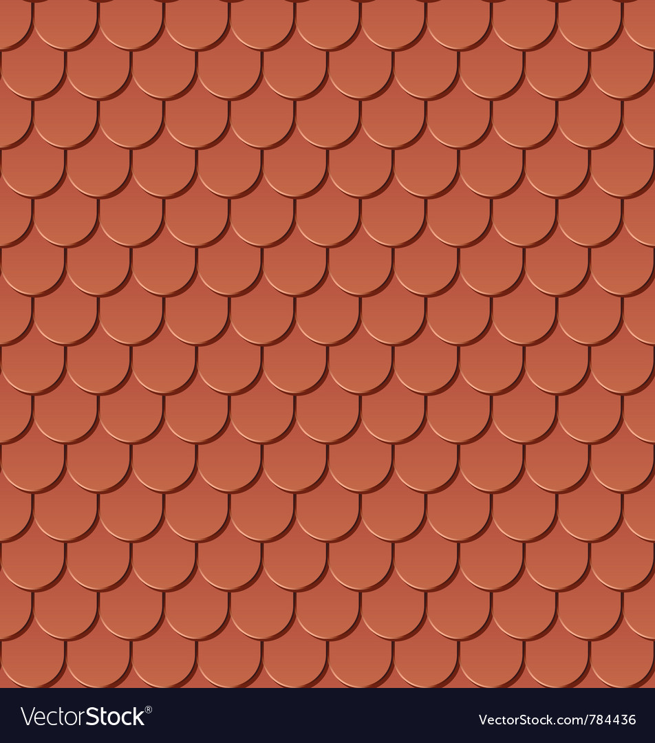 Clay roof tiles vector | Price: 1 Credit (USD $1)