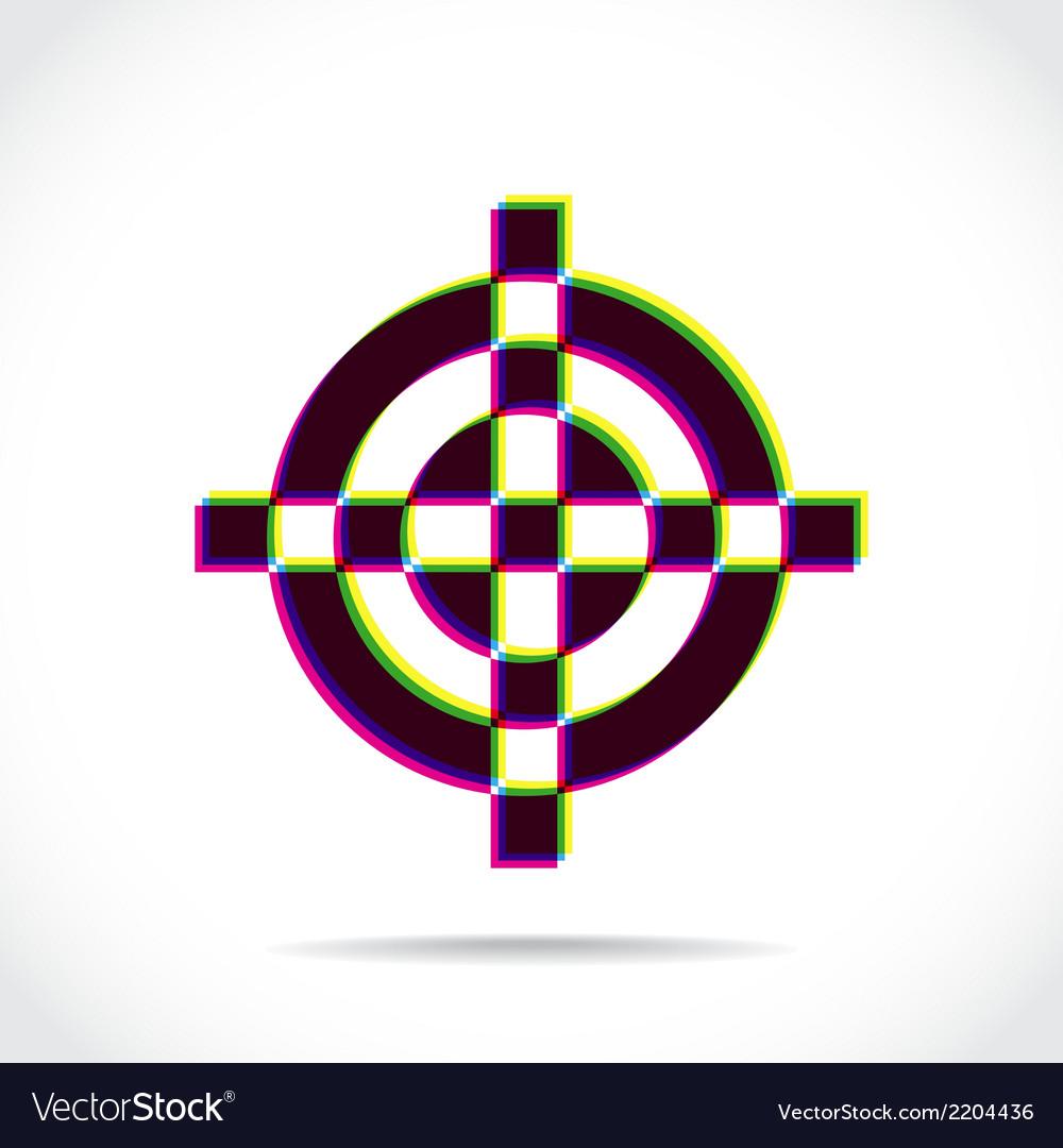 Crosshair symbol vector | Price: 1 Credit (USD $1)