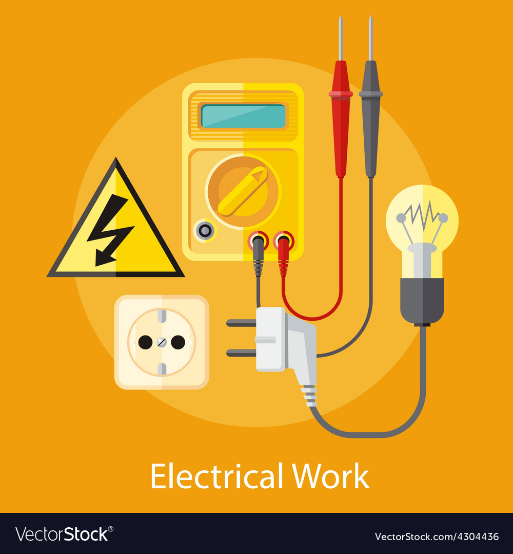 Electrical work concept vector   Price: 1 Credit (USD $1)