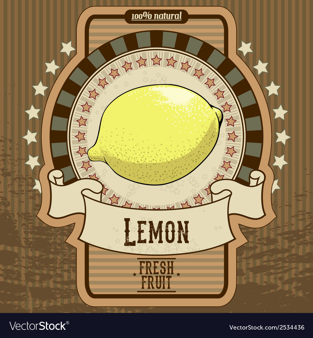 Fruit label vector | Price: 1 Credit (USD $1)