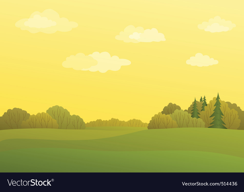 Landscape autumn vector | Price: 3 Credit (USD $3)