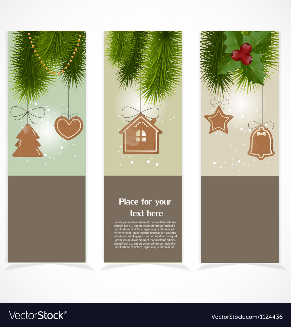 Merry christmas banner vector | Price: 1 Credit (USD $1)