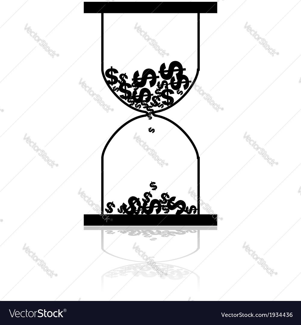 Money hourglass vector | Price: 1 Credit (USD $1)
