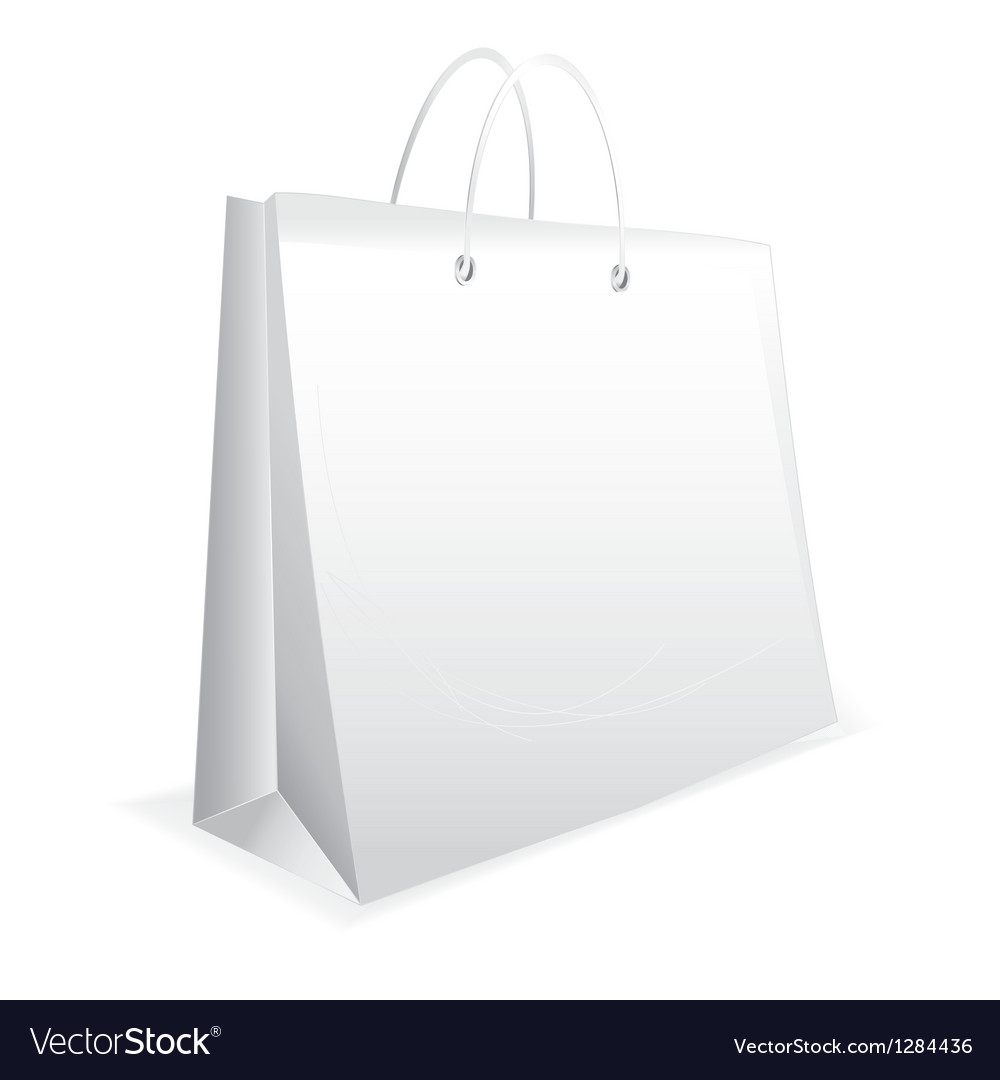 White paper bag vector | Price: 1 Credit (USD $1)